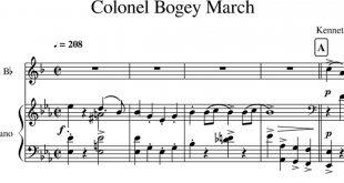 نت دو نوازی کلارینت و پیانوی کلنل بوگی