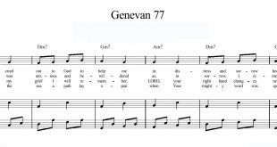 نت قطعه Genevan Psalm 77
