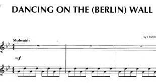 نت پیانوی قطعه Dancing on the (Berlin) Wall