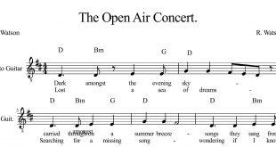 نت گیتار قطعه The Open Air Concert