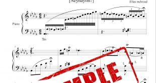نت آذری آهنگ آلا گزلوم برای پیانو