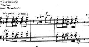 نت آذری داغلارباشی ریحان برای پیانو همراه خط آوازی نت