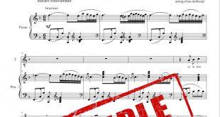 نت آذری گرنفیل برای پیانو همراه نت وکال