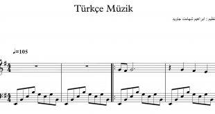 نت ترکی Türkçe Müzik برای پیانو