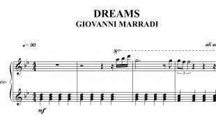 نت پیانوی آهنگ رویاها DREAMS