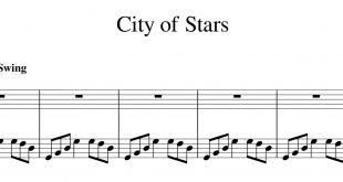 نت پیانوی شهر ستاره ها city of stars