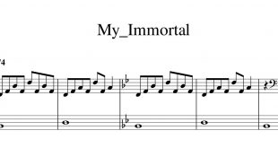 نت پیانوی My Immortal