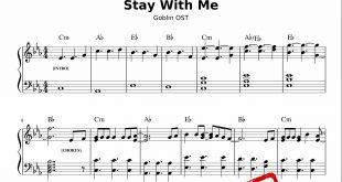 نت آهنگ قطعه Stay With Me