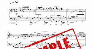 نت آهنگ من و گنجشک های خونه برای پیانو