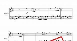 نت پیانوی آهنگ بگذر ز من ای آشنا متوسط