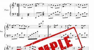 نت آهنگ سیب برای پیانو