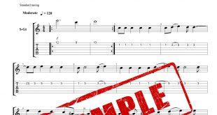 نت و تبلچر آهنگ غلط کردم از محسن چاوشی برای گیتار