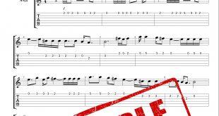 نت و تبلچر آهنگ یادگاری از سیاوش قمیشی برای گیتار