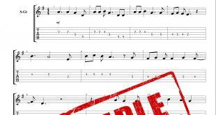 نت و تبلچر آهنگ Last Christmas از جورج مایکل برای گیتار