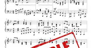 نت پیانوی سرود ملی ایالات متحده آمریکا