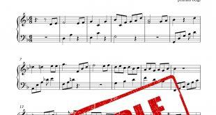نت پیانوی نوازش از ابی با تنظیم پدرام محمد بیگی