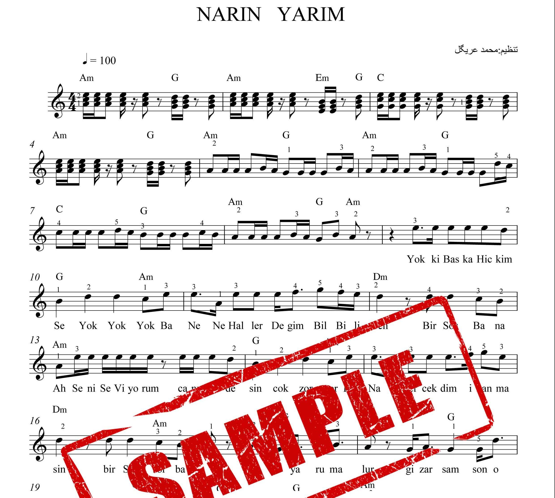 نت کیبورد NARIN YARIM همراه آکورد