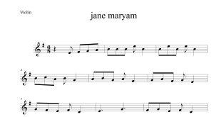 مریم برای ویولن با تنظیم حسین محسنی 310x165 - نت آهنگ جان مریم با تنظیم حسین محسنی برای ویولن
