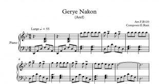 آهنگ گرینه نکن از عارف 310x165 - نت آهنگ گریه نکن از عارف برای پیانو