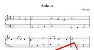 ساده پیانو Andante برای نو آموزان 310x165 - نت ساده پیانو Andante برای نو آموزان - نت پیانو