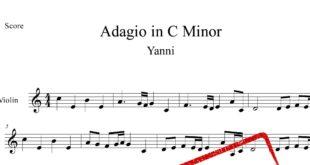 ویولن قطعه Adagio ار یانی 310x165 - نت آهنگ قطعه Adagio از یانی برای ویولن