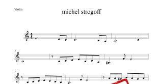ویولن موسیقی متن فیلم michel strogoff 310x165 - نت ویولن موسیقی متن فیلم michel strogoff با تنظیم حسین محسنی