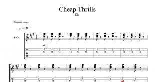 و تبلچر آهنگ Cheap Trills از Sia برای گیتار 310x165 - نت و تبلچر گیتار آهنگ Cheap Trills از سیا فارلر