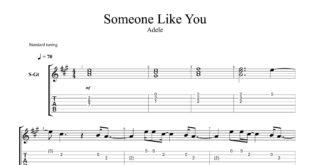 و تبلچر آهنگ Someone Like You از Adele برای گیتار 310x165 - نت و تبلچر گیتار آهنگ Someone Like You از ادل لوری