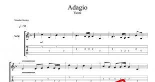و تبلچر قطعه Adagio از یانی برای گیتار 310x165 - نت و تبلچر قطعه Adagio از یانی