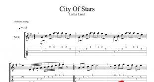 و تبلچر قطعه City of Stars از فیلم LaLa Land برای گیتار 310x165 - نت و تبلچر گیتار قطعه City of Stars از فیلم LaLa Land