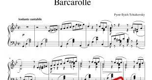 پیانوی Barcarolle از چایکوفسکی 310x165 - نت آهنگ Barcarolle از چایکوفسکی برای پیانو