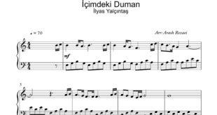 آهنگ İçimdeki Duman با تنظیم آرش رضایی 310x165 - نت آهنگ İçimdeki Duman برای سه نسخه پیانو و ویولن و گیتار