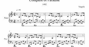 آهنگ Conquest of Paradise برای پیانو 310x165 - نت پیانوی آهنگ Conquest of Paradise