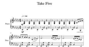 آهنگ take five برای پیانو 310x165 - نت پیانوی آهنگ take five