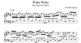 آهنگ waka waka از shakira برای پیانو 310x165 - نت پیانوی آهنگ waka waka از shakira