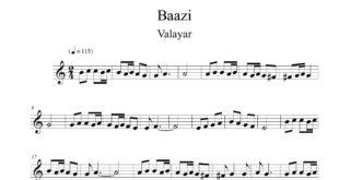 ویولن آهنگ بازی از خواب برگشتم به تنهایی از والایار 310x165 - نت آهنگ از خواب برگشتم به تنهایی برای ویولن