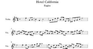 ویولن آهنگ هتل کالیفرنیا 310x165 - نت آهنگ هتل کالیفرنیا برای ویولن - نت آهنگ