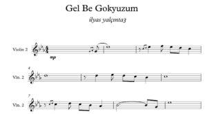 ویولون قطعه Gel Be Gokyuzum 310x165 - نت آهنگ Gel Be Gokyuzum برای ویولن