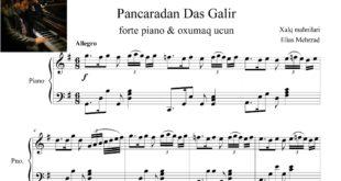پنجردن داش گلیر برای پیانو و آواز 1 310x165 - نت پیانو آهنگ پنجردن داش گلیر