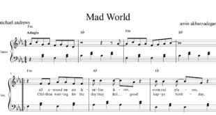 پیانوی آهنگ mad world 310x165 - نت پیانوی آهنگ mad world از مایکل اندروز