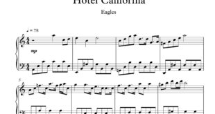 پیانوی هتل کالیفرنیا 310x165 - نت پیانوی هتل کالیفرنیا با تنظیم مسعود موجی