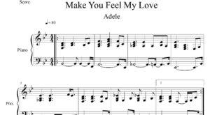 نت پیانو قطعه Make You Feel My Love از ادل