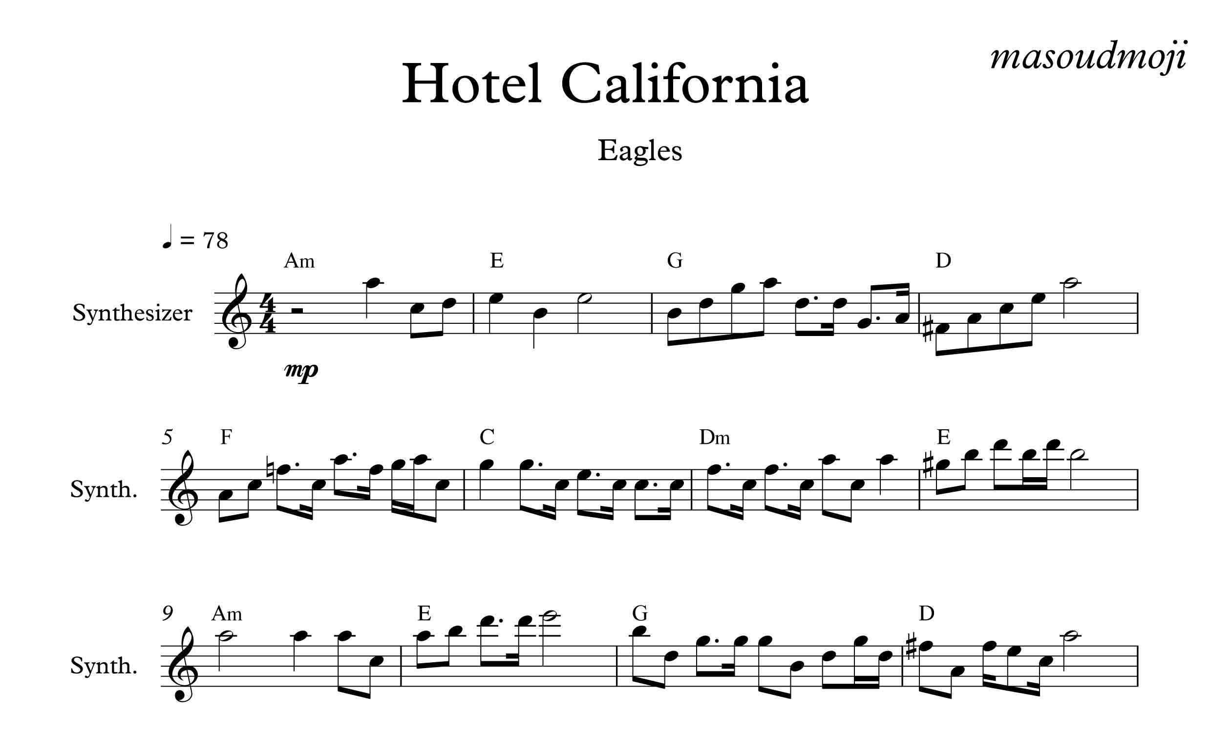 نت کیبورد هتل کالیفرنیا