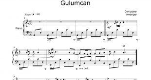 نت پیانو Gülümcan
